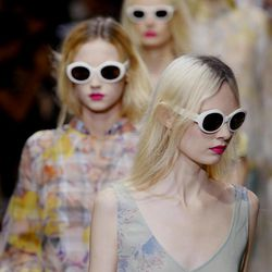 Models wear creations by Belgian fashion designer Dries van Noten for the fashion house's Spring Summer 2013 ready-to-wear collection, for Fashion Week, in Paris, Wednesday, Sept.26, 2012.