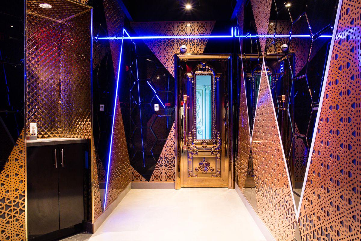 A corridor at Kamu Ultra Karaoke