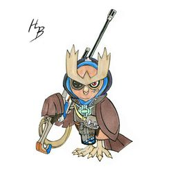 The only second generation Pokémon in the mix, Noctowl is Ana. We think it's a pretty great choice.