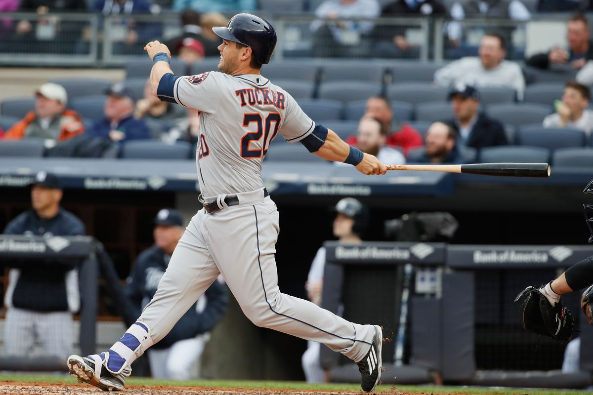 This Preston Tucker home run was the hardest-hit dinger in the major leagues this season.