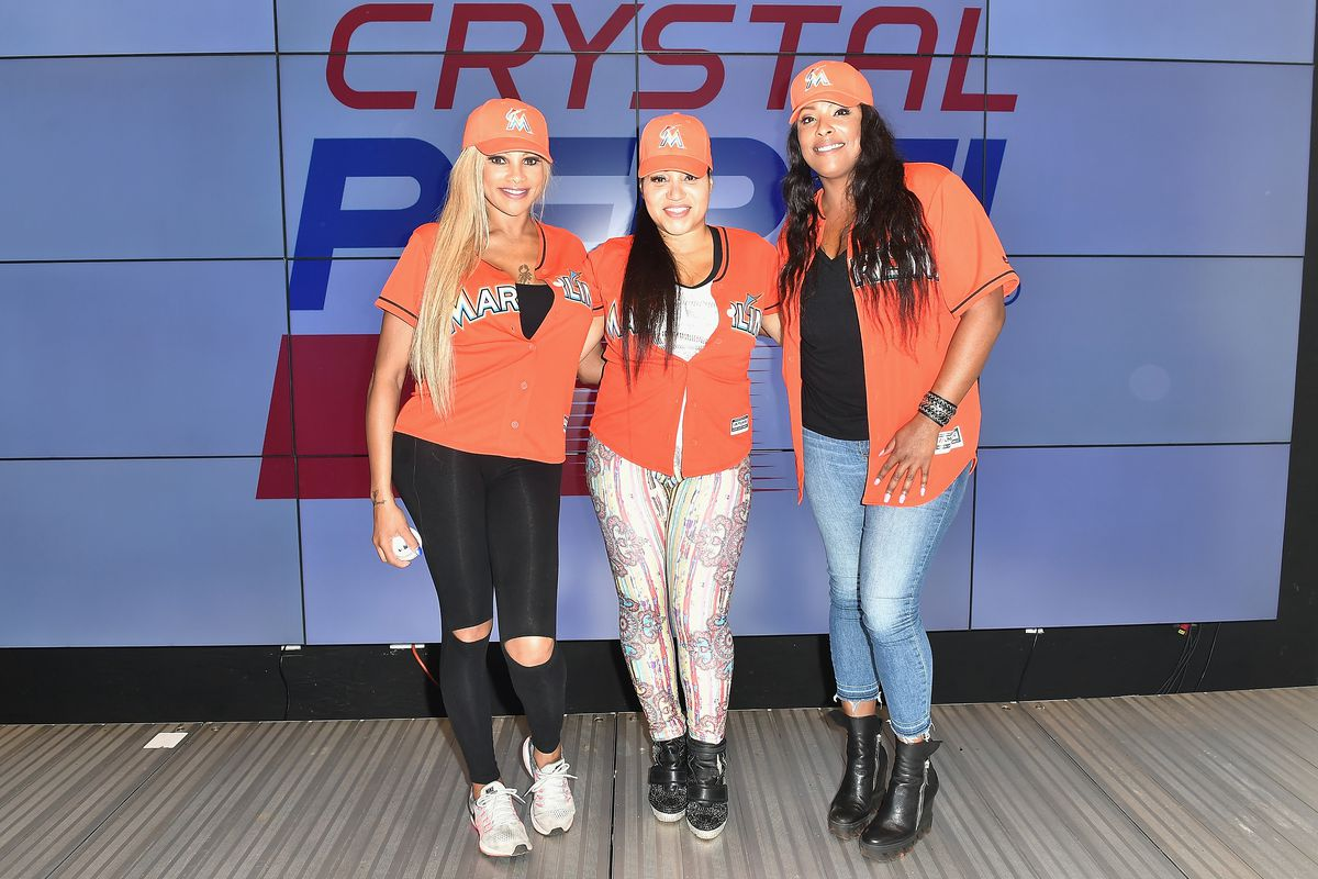 Salt-N-Pepa Performs At The Crystal Pepsi Throwback Tour At Marlin's Park In Miami, FL