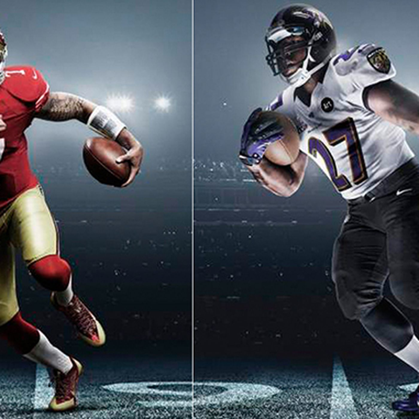 Super Bowl 2013: Nike rolls out new uniforms for 49ers, Ravens ...