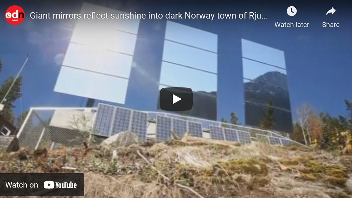 Norweigan town relies on giant mirrors for sunlight
