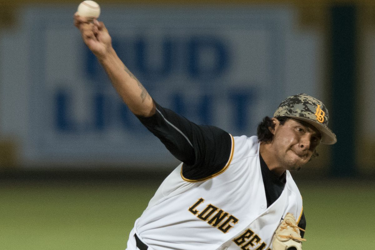 Chris Mathewson struck out 107 in 104 1/3 innings for Long Beach State in 2016.