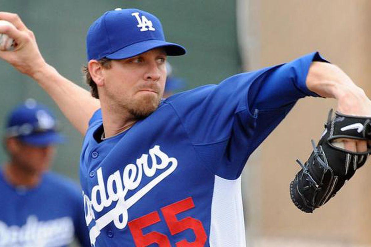 Matt Guerrier (<em>Photo: Jon SooHoo | LA Dodgers</em>)