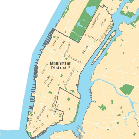 District 2 includes most of lower Manhattan and the Upper East Side. (Photo credit: New York City Department of Education)
