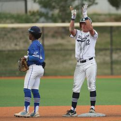 Dixie vs. Ridgeline in 4A baseball state playoff action at Salt Lake Community College in West Jordan on Wednesday, May 19, 2021.