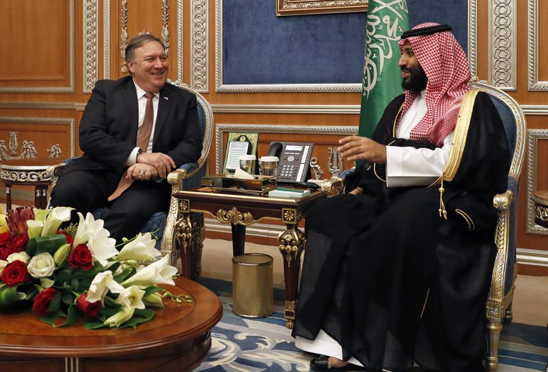 Pompeo_MBS Pompeo just met with the Saudi royal who may be behind Jamal Khashoggi's disappearance