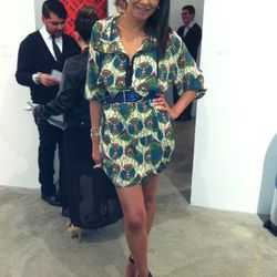 Actress and blogger Taye Hansberry (www.stuffshelikes.net) rocking a Marni for H&M dress, hot off the racks.