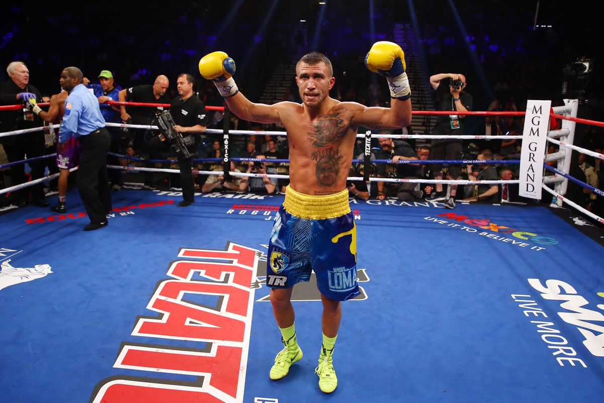 Lomachenko was victorious on the Mayweather-Pacquiao undercard.