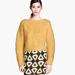"""<b>H&M</b> Mohair Sweater, <a href=""""http://www.hm.com/us/product/23298?article=23298-A"""">$49.95</a>"""