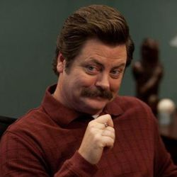 """Nick Offerman as Ron Swanson in """"Parks and Recreation."""""""