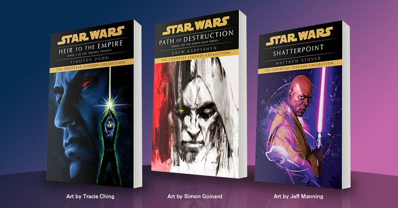 the first three books in Lucasfilm's Star Wars' Essential Legends Collection: Heir to the Empire. Path of Destruction, and Shatterpoint