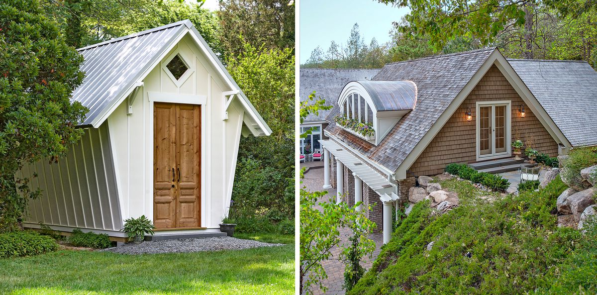 shed and eyebrow dormer metal roof accents, July/Aug 2020