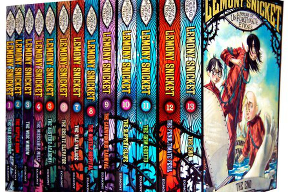 The books from the Lemony Snicket series.