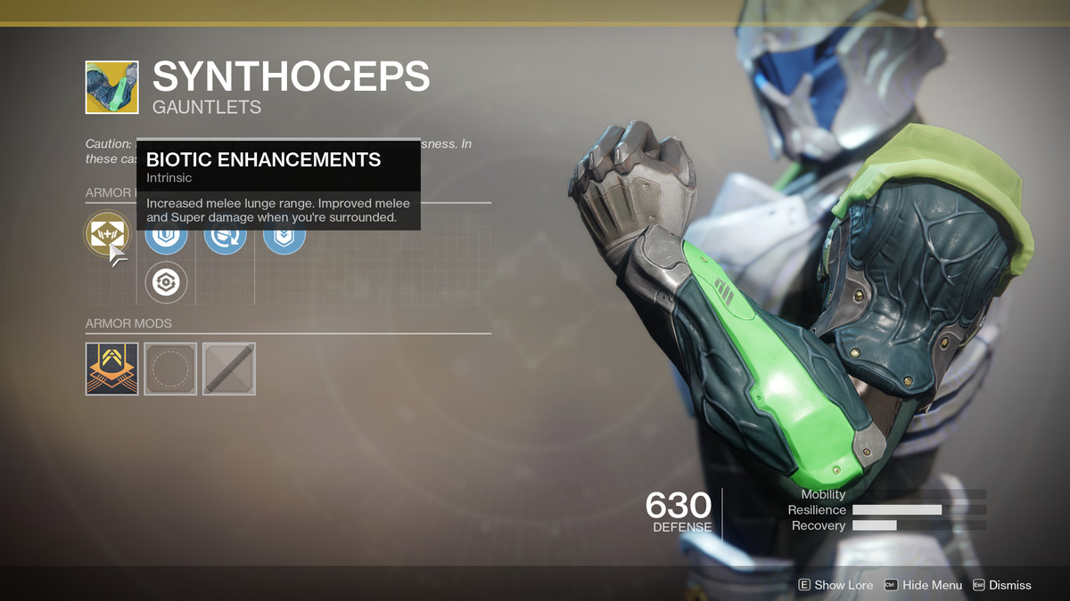 Synthoceps Exotic Destiny 2