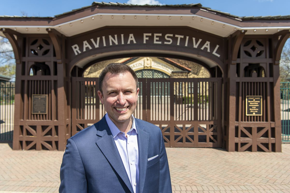 Jeffrey P. Haydon, the newly appointed CEO and president of the Ravinia Festival, is photographed at the venue earlier this month.