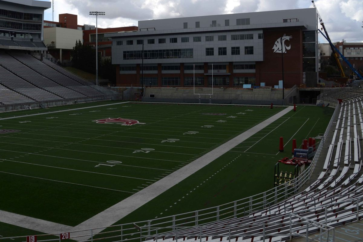 Has Mike Leach kicked his players out of the new Football Operations Building?
