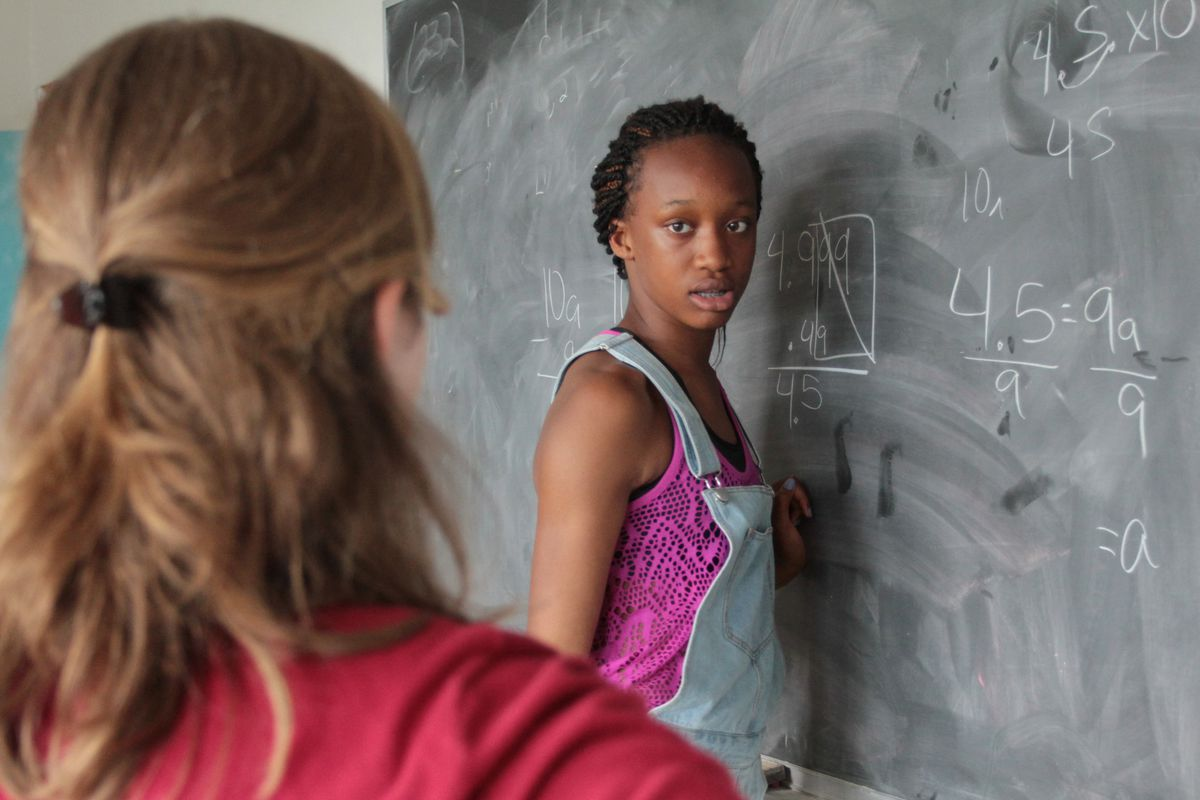 Nia Wallace, a current eighth-grader at Girls Prep Middle School, attends BEAM's summer math camp at Bard College.
