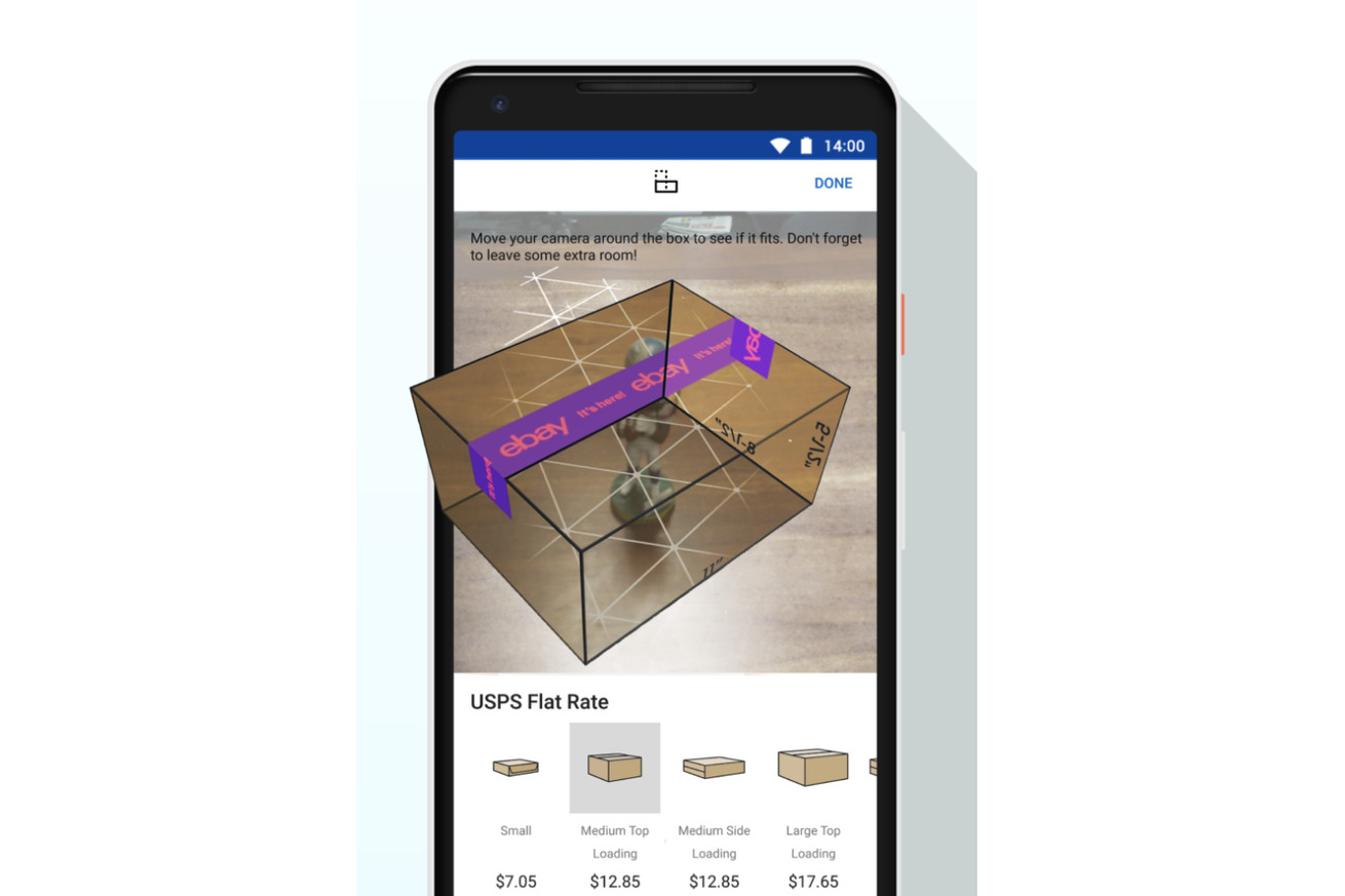 ebay s android app has a new ar feature to help you pick the correct box size for shipping