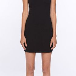 """Not into prints, but think plain black is boring? The embellished shoulders of this LBD add a certain je ne sais quoi to a party look. $199 at <a href=""""http://www.amourvert.com/isla-dress-black/"""">Amour Vert</a>, online."""