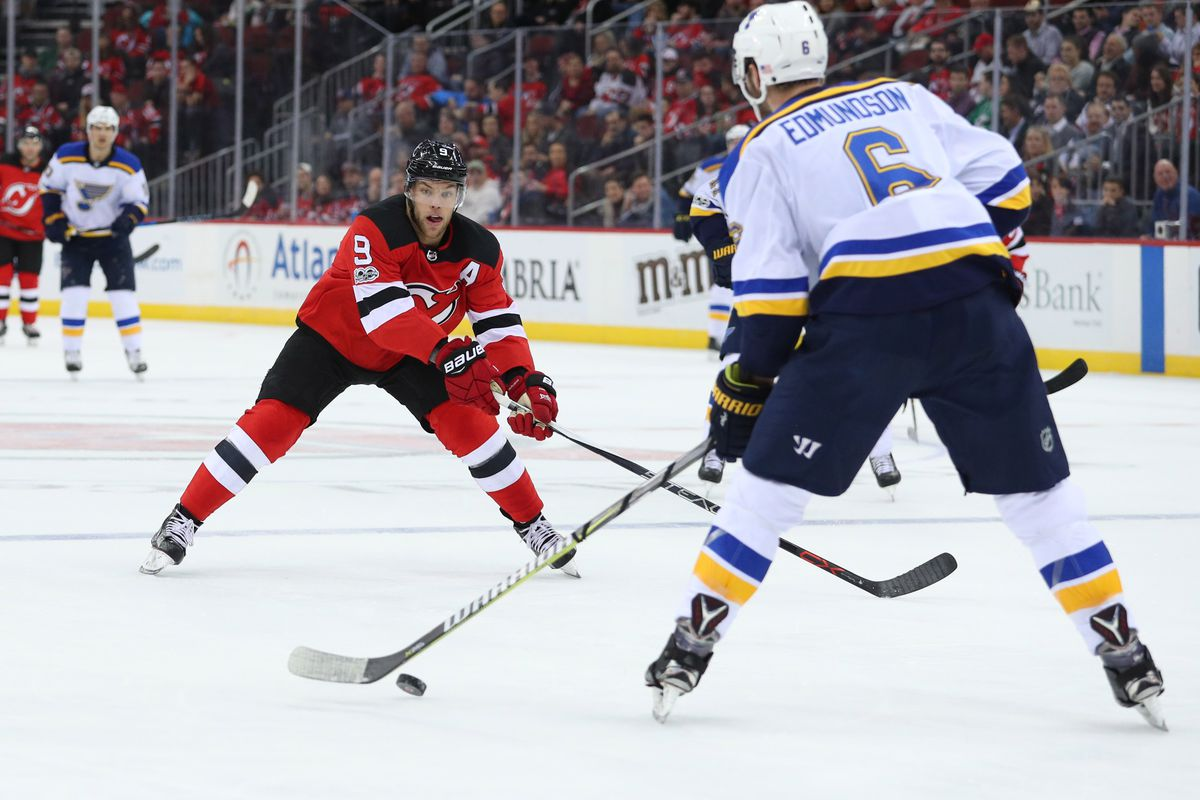 NHL: St. Louis Blues at New Jersey Devils
