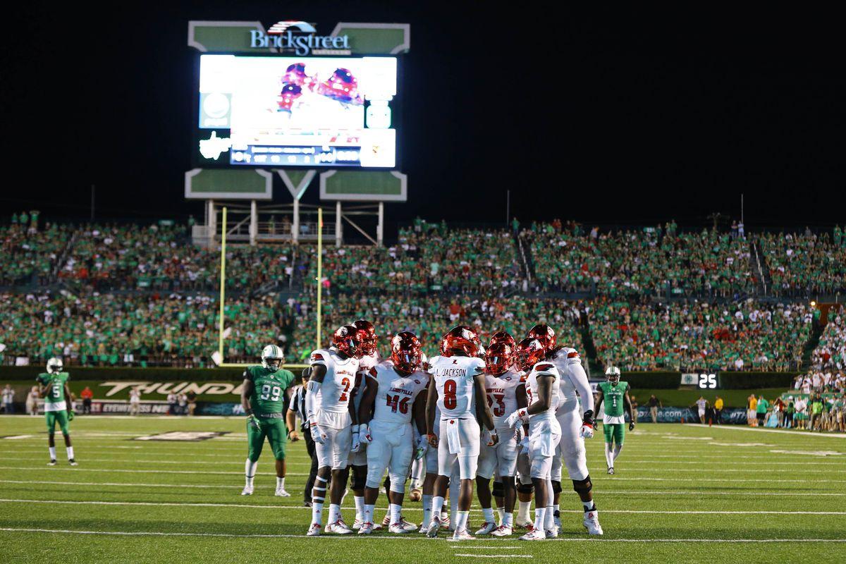 NCAA Football: Louisville at Marshall