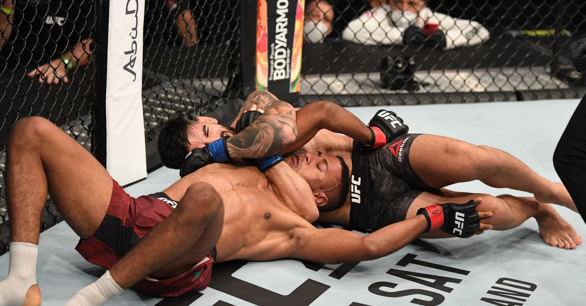UFC Fight Island 5 results: Ilia Topuria remains undefeated with grappling-heavy win over Youssef Zalal - MMA Fighting