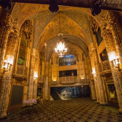 """Ace tells us that the stunning space, which showcases original murals and intricate plasterwork, is available for concerts, premieres, private screenings, seminars and """"creative gatherings."""" We're hoping that this becomes home to a slew of upcoming fashio"""