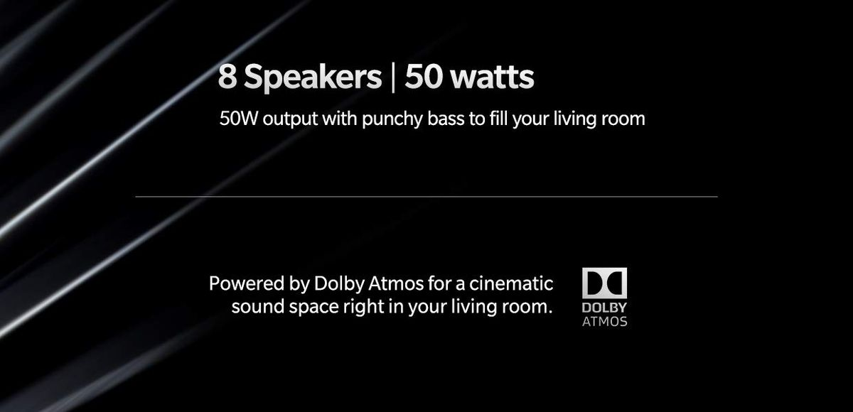 The OnePlus TV will have eight speakers and built-in Dolby