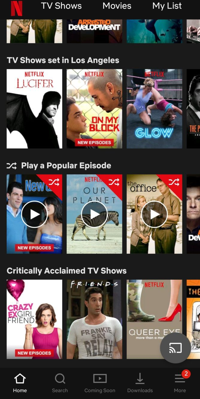 Netflix is testing a 'random episode' feature for its TV