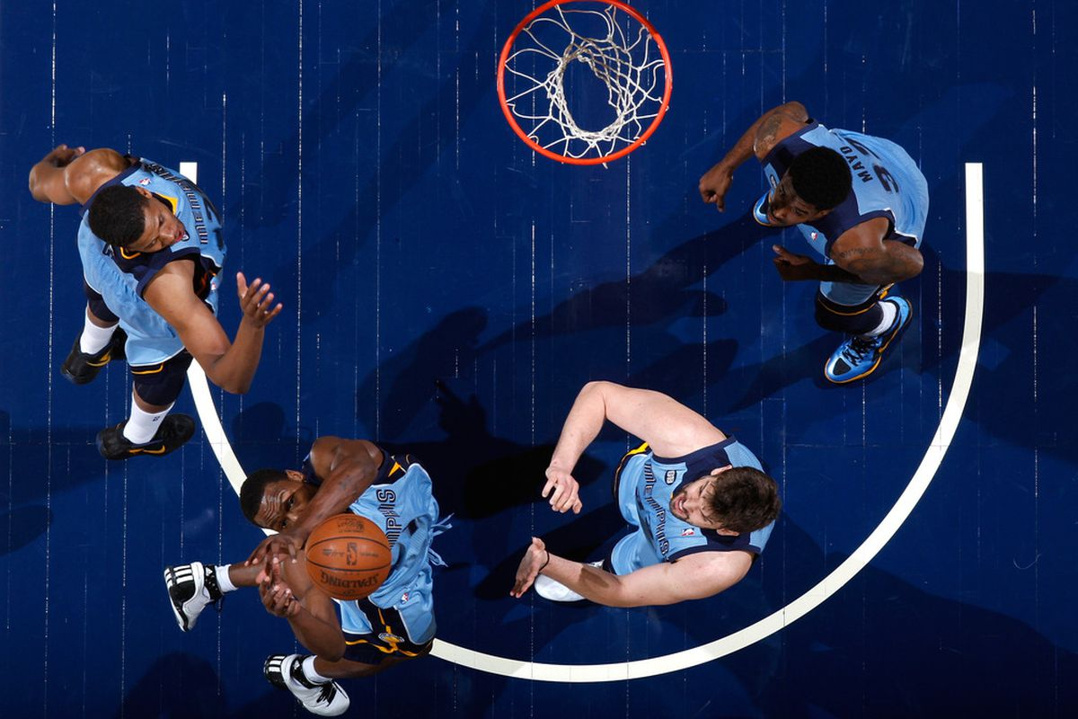 4 Grizzlies and no Hawks around the rim: that pretty much sums up the night.