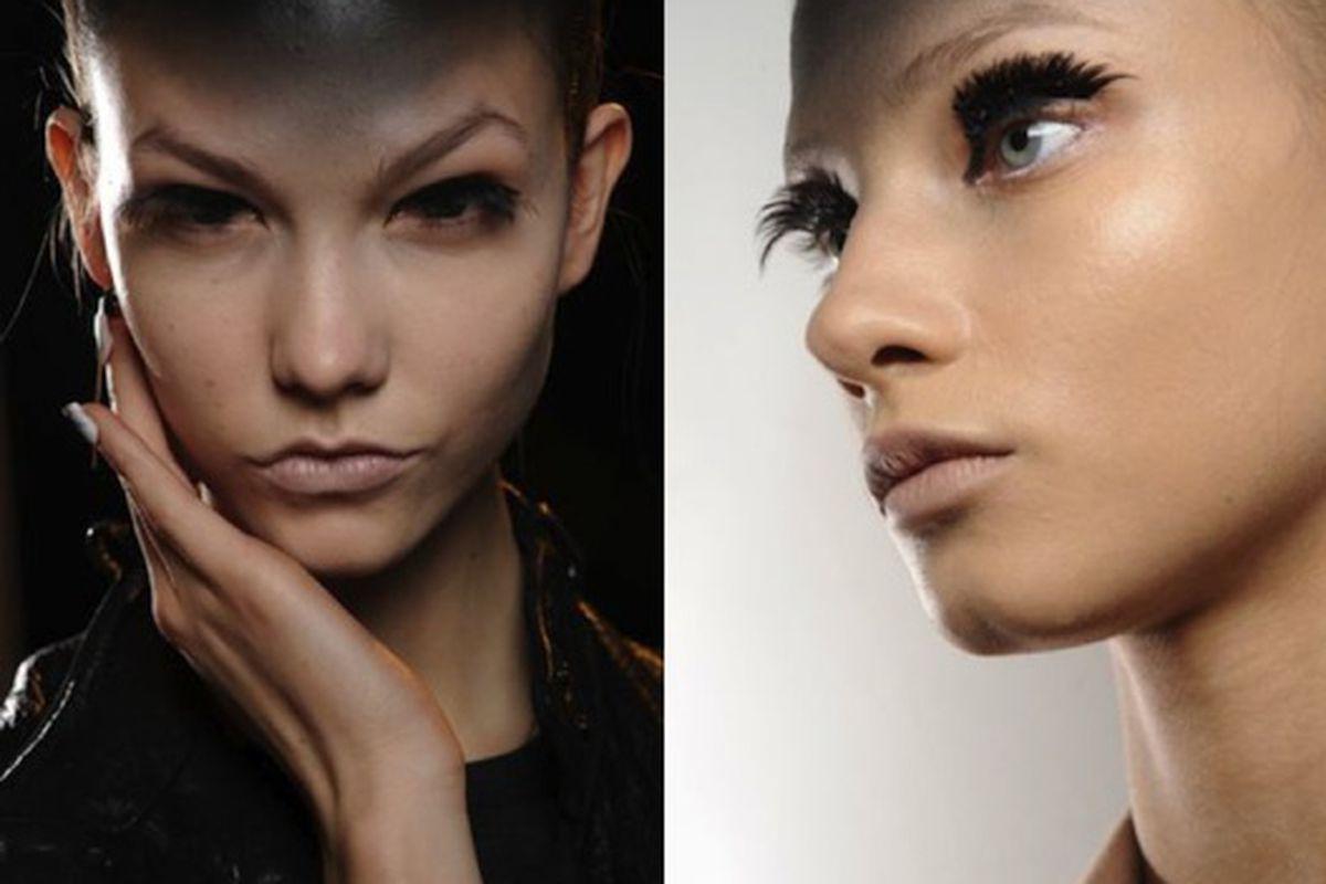 Gareth Pugh runway makeup by Alex Box for MAC