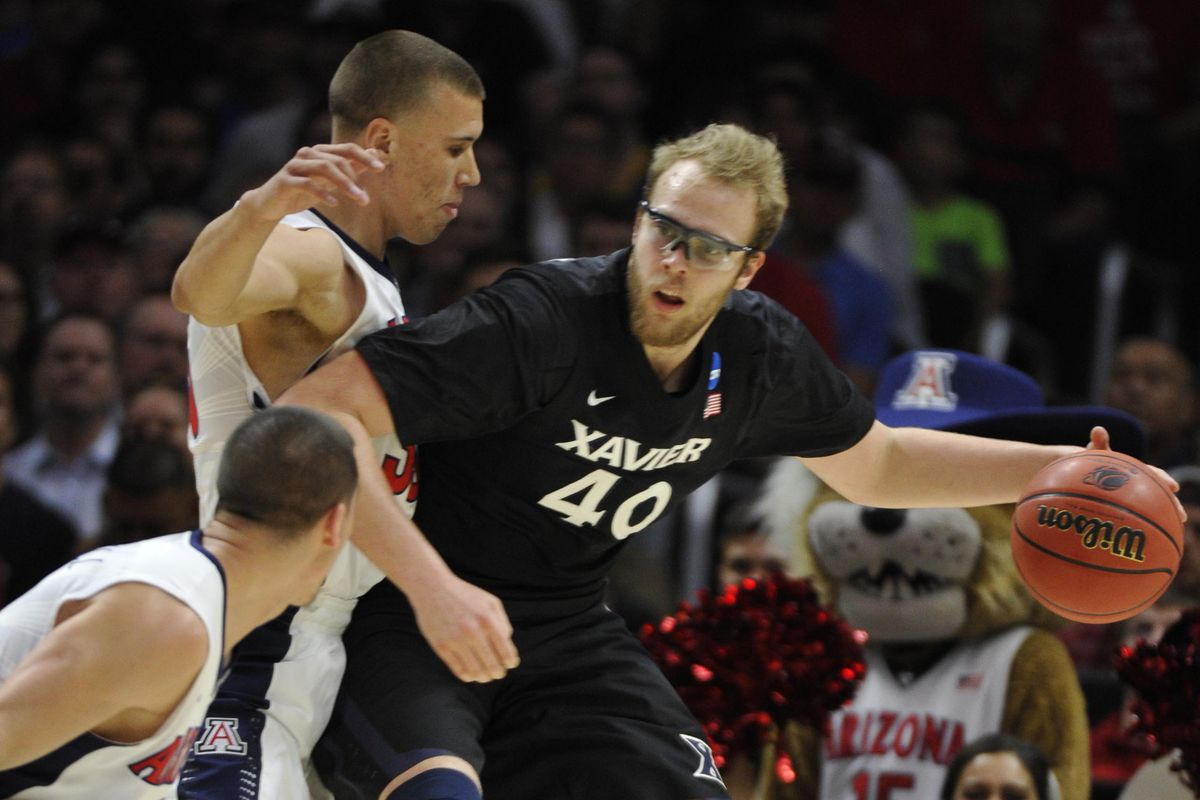 No one meant more to the team this year than Xavier's bespectacled wizard of a big man.