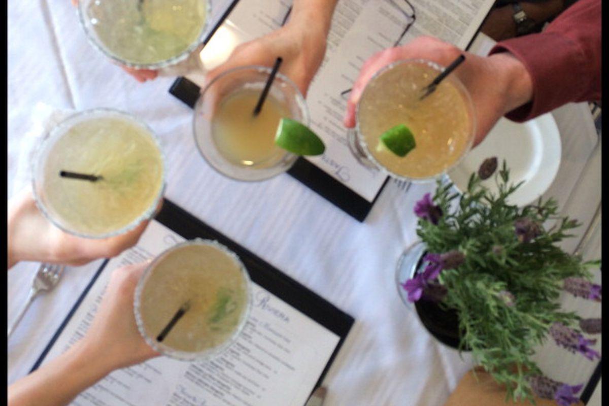 Margaritas at La Brisas restaurant, Laguna Beach CA.