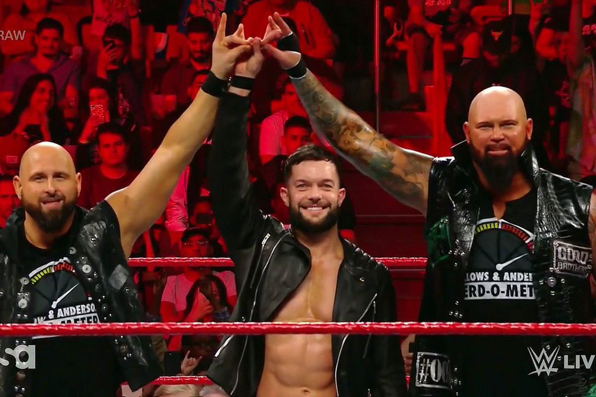 Finn Balor, Karl Anderson and Luke Gallows just hit a Too