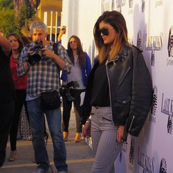 Kylie Jenner poses for the cameras.