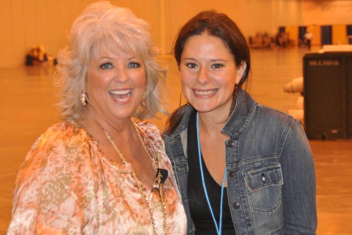 Paula Deen and Hannah Siegel-Gardner.