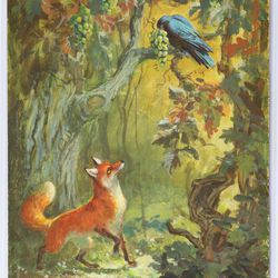 <b>Mel Shaw, The Fox and the Grapes, Aesop Fable, 1966.</b>