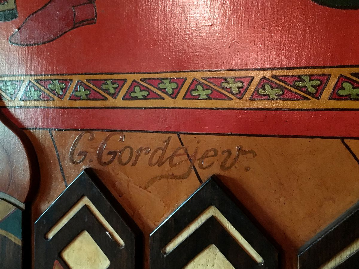 The artist's signature: Gennadi Gordevey, who trained as an architect, fought on the side of the czar during the Russian revolution, was seriously wounded and fled the country.