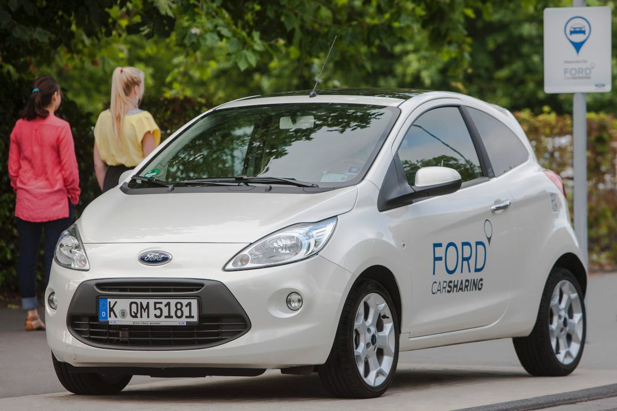Ford Ceo Mark Fields And Product Development Vp Raj Nair Announced That The Company Is Testing Ride Sharing Systems In London New York Germany