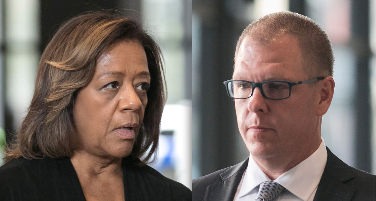 Former CPS CEO Barbara Byrd-Bennett, and Gary Solomon, the mastermind behind the CPS kickback scheme. | Sun-Times file photos