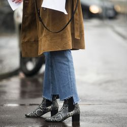 Vetements jeans during London Fashion Week.