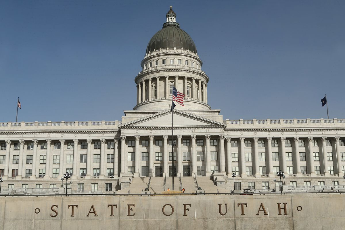 The Utah State Capitol in Salt Lake City on Sunday, Dec. 3, 2017. President Donald Trump will speak at the venue during his visit to Utah on Monday.
