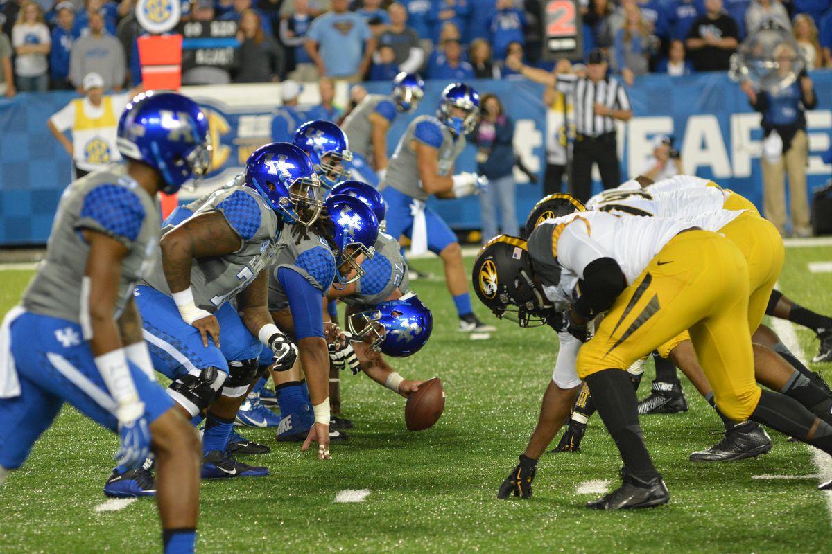 Kentucky Wildcats Football vs Missouri Tigers 2017 - A Sea ...