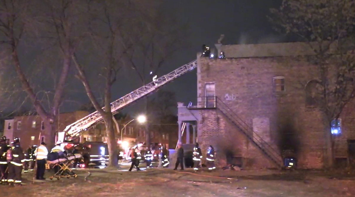Firefighters responded to a blaze in a two-story house Saturday night in the 6600 block of South Champlain.   Network Video Productions