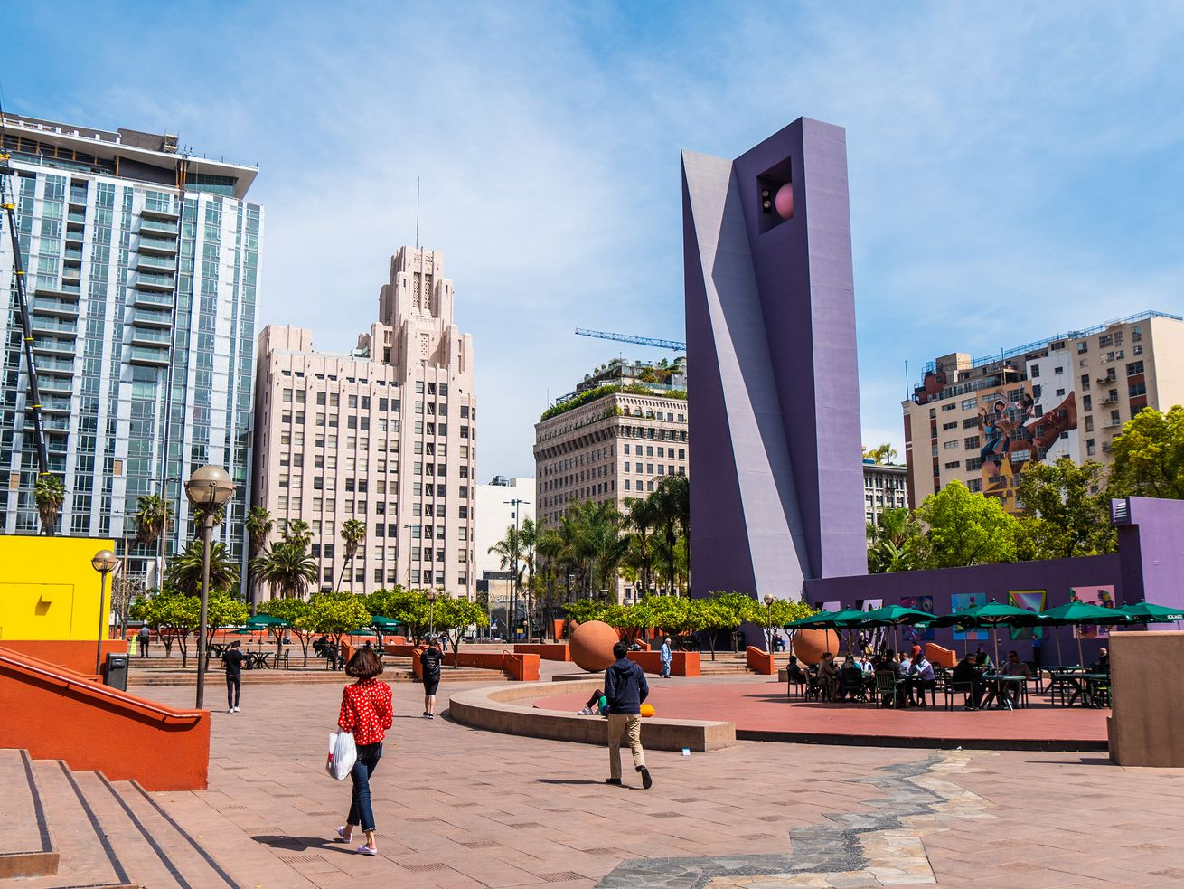 A March 2019 photo of Pershing Square.