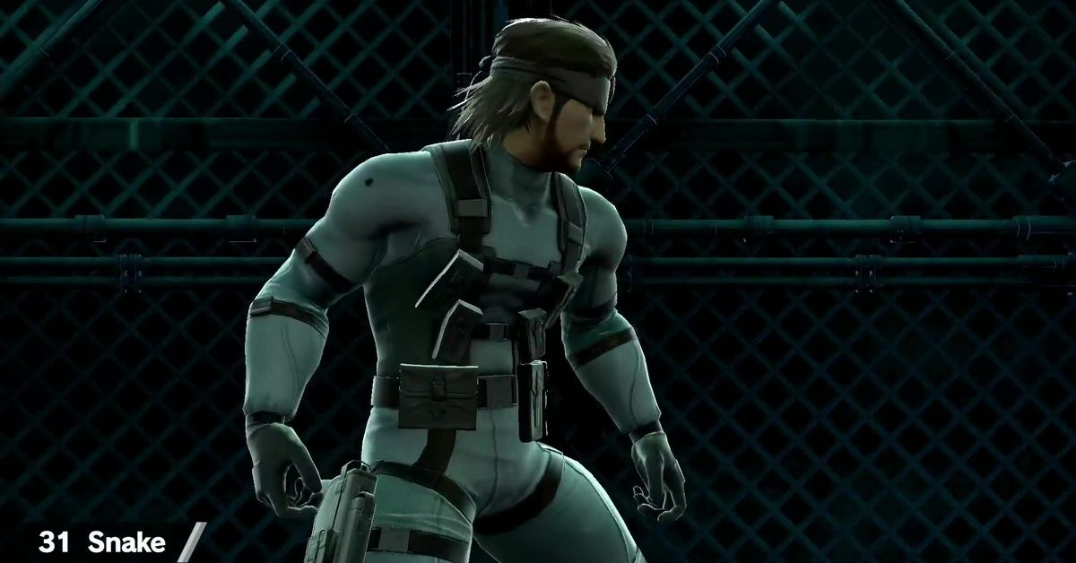 Super Smash Bros. fans are upset about Solid Snake's butt