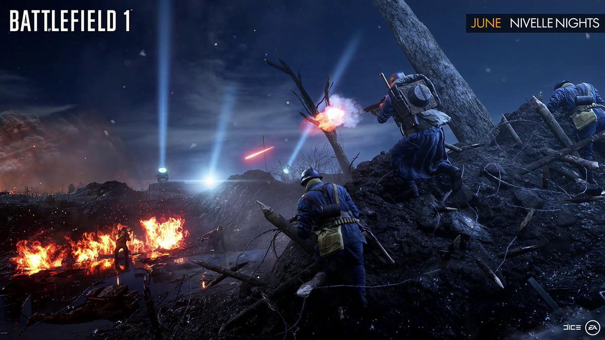 Nivelle Nights map in Battlefield 1