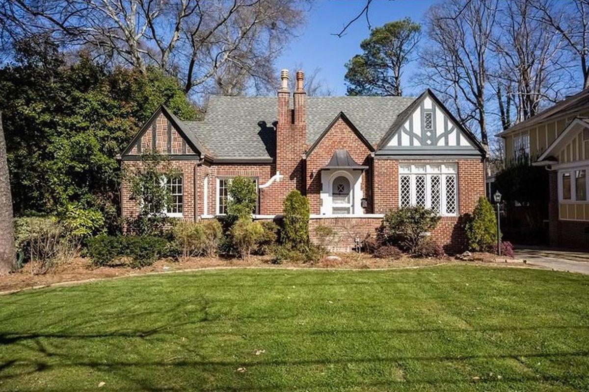 A Tudor-style home in Atlanta's Lake claire neighborhood.